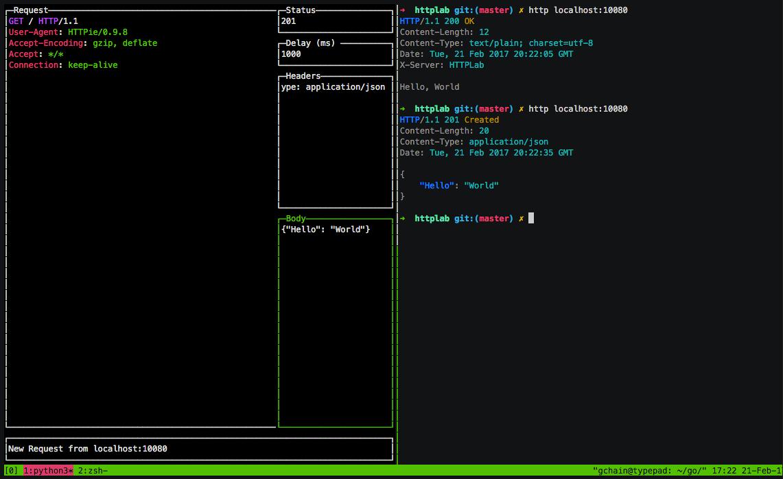 Screenshot of HTTPlab