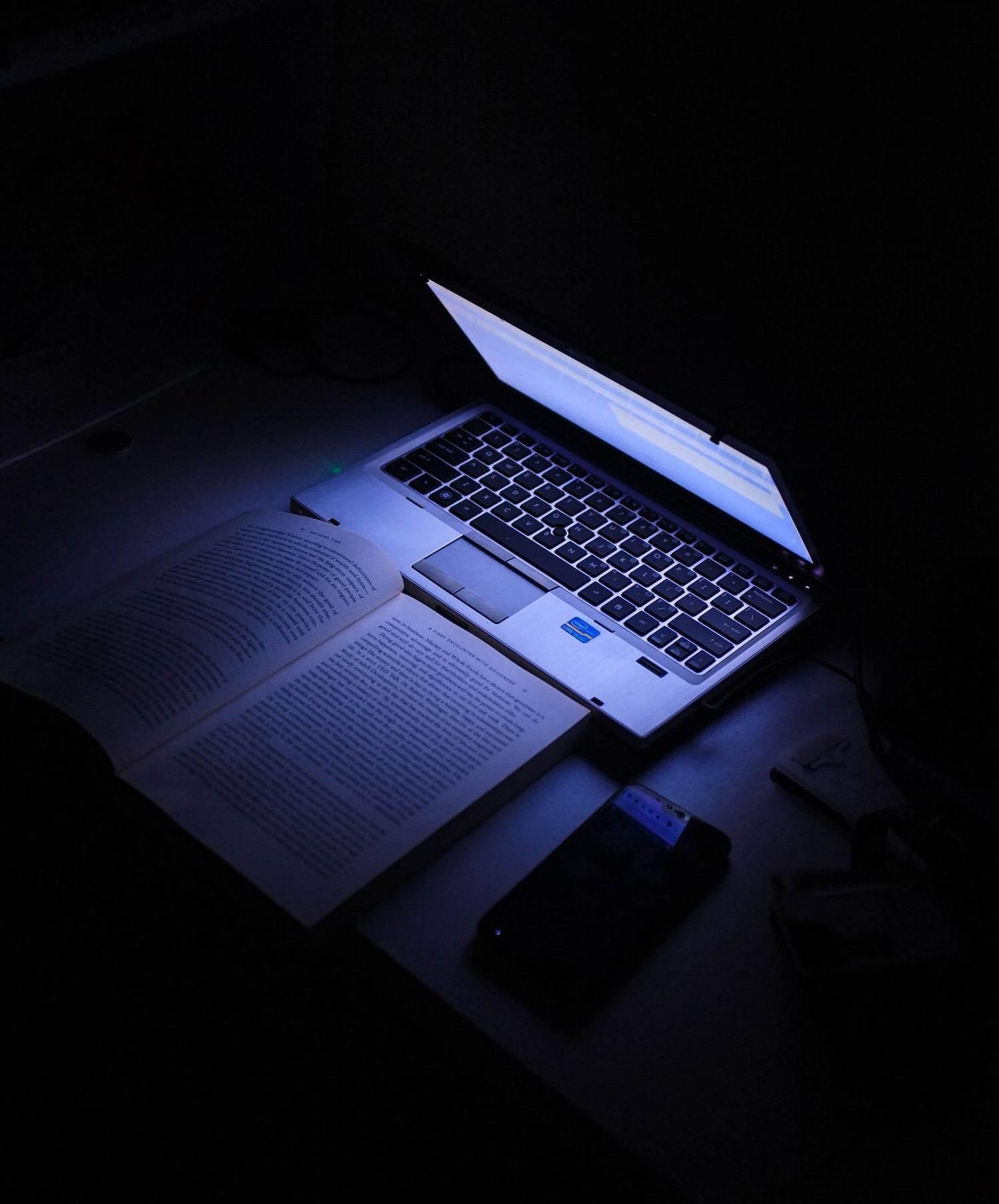 A Laptop in the darkx